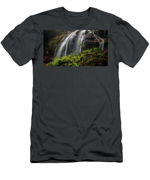 Magical Mystical Mossy Waterfall Men's T-Shirt (Athletic Fit)