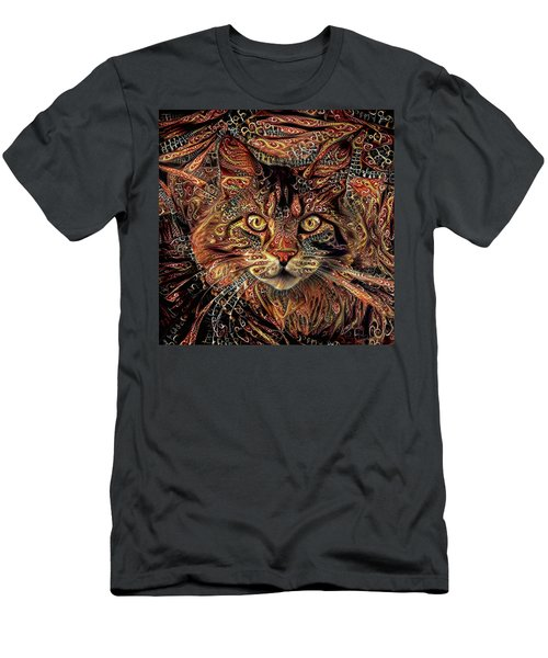 Maine Coon Cat Men's T-Shirt (Athletic Fit)