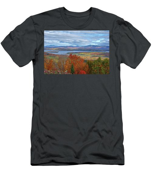 Maine Fall Colors Men's T-Shirt (Athletic Fit)