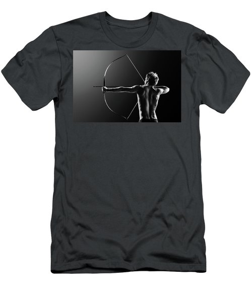 Male Archer Drawing Long Bow Men's T-Shirt (Athletic Fit)