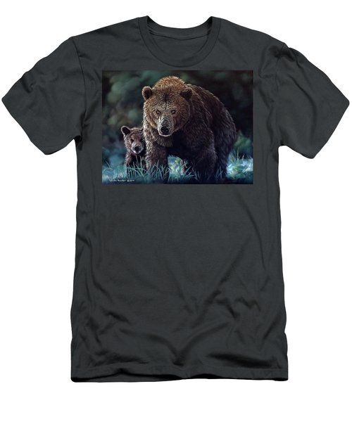 Mama Brown With Cubs Men's T-Shirt (Athletic Fit)