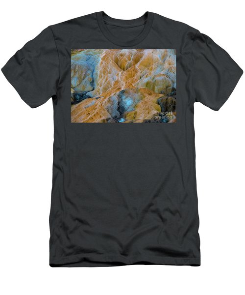 Men's T-Shirt (Athletic Fit) featuring the photograph Mammoth Hot Springs by Mae Wertz