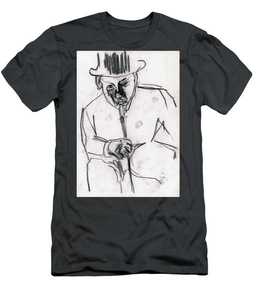 Man In Top Hat And Cane Men's T-Shirt (Athletic Fit)