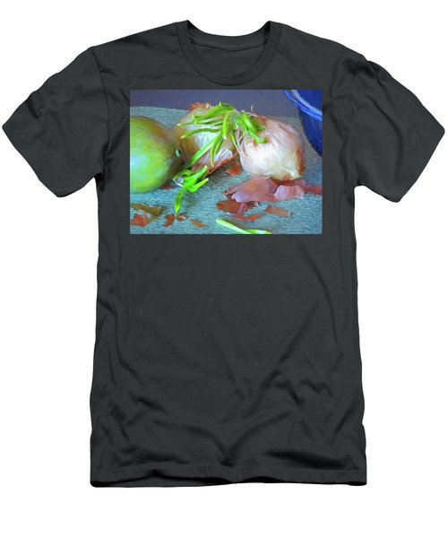 Men's T-Shirt (Athletic Fit) featuring the mixed media Mango And Two Onions by Lynda Lehmann