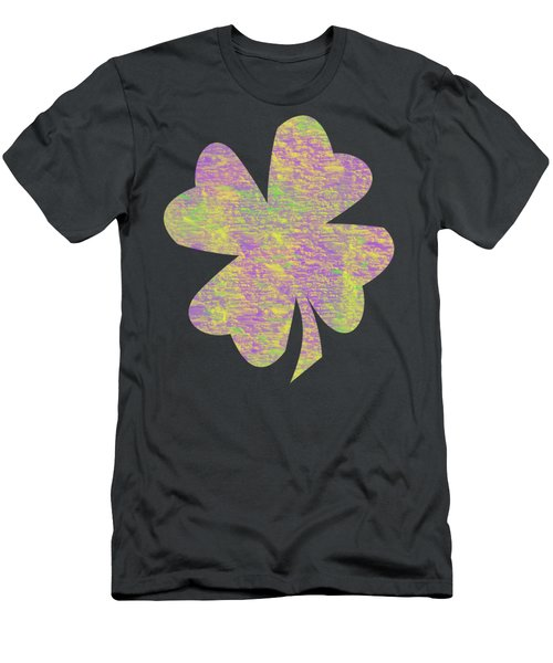 Mardi Gras Shamrock Men's T-Shirt (Athletic Fit)