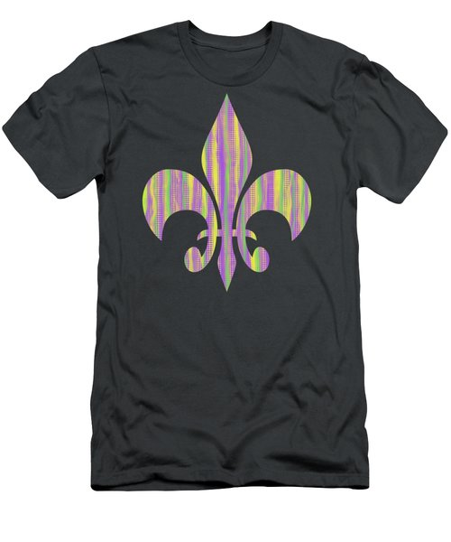 Mardi Gras Time Fleur De Lis Men's T-Shirt (Athletic Fit)