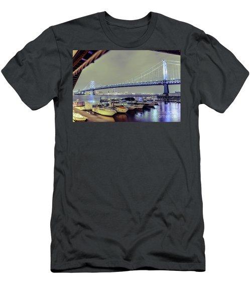 Marina Lights Men's T-Shirt (Athletic Fit)