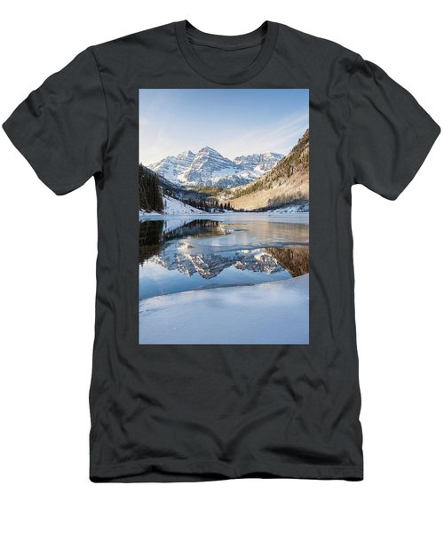 Maroon Bells Reflection Winter Men's T-Shirt (Athletic Fit)
