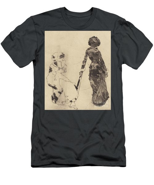 Mary Cassatt At The Louvre  The Etruscan Gallery Men's T-Shirt (Athletic Fit)