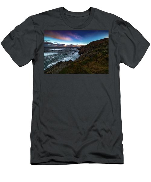 massive storm near Nyksund Men's T-Shirt (Athletic Fit)