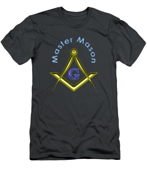 Master Mason  - Transparent Background Men's T-Shirt (Athletic Fit)