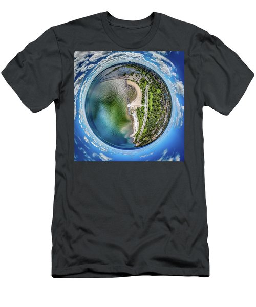 Men's T-Shirt (Athletic Fit) featuring the photograph Mckinley Park Little Planet by Randy Scherkenbach