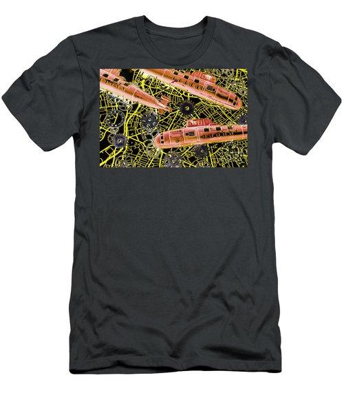 Mechanised Waters  Men's T-Shirt (Athletic Fit)