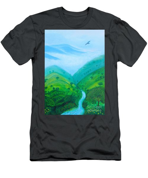 Men's T-Shirt (Athletic Fit) featuring the painting Medellin Natural by Gabrielle Wilson-Sealy