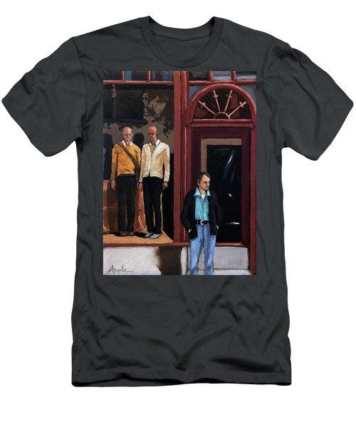 Men's Fashion Oil Painting Men's T-Shirt (Athletic Fit)