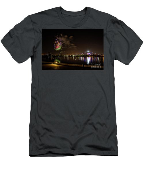 Midway Fireworks  Men's T-Shirt (Athletic Fit)