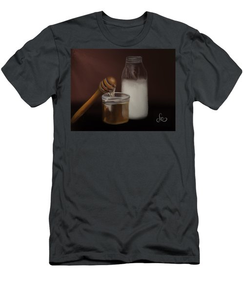 Men's T-Shirt (Athletic Fit) featuring the painting Milk And Honey  by Fe Jones