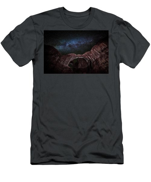 Men's T-Shirt (Athletic Fit) featuring the photograph Milky Way At Double Arch by David Morefield