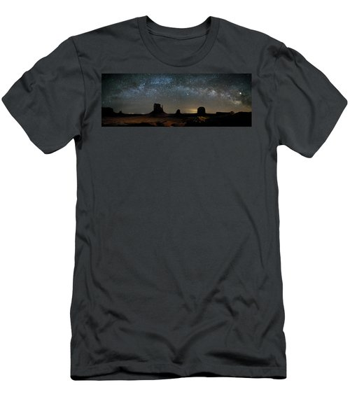 Milky Way Over Monument Valley Men's T-Shirt (Athletic Fit)