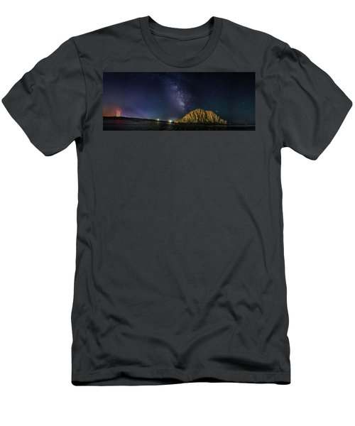 Milky Way Over Morro Rock Men's T-Shirt (Athletic Fit)