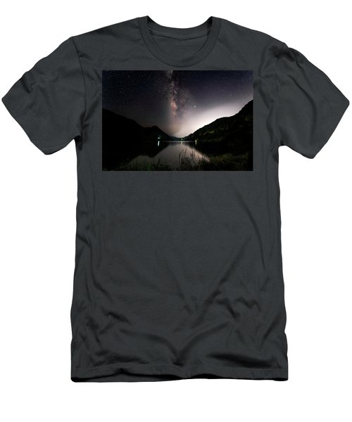 Milky Way Over The Ou River Near Longquan In China Men's T-Shirt (Athletic Fit)