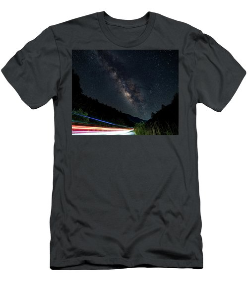 Milky Way Over The South Road Men's T-Shirt (Athletic Fit)