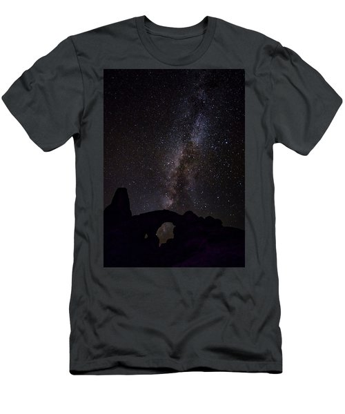 Men's T-Shirt (Athletic Fit) featuring the photograph Milky Way Over The Windows by David Morefield