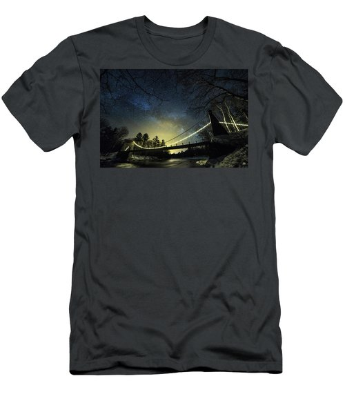 Milky Way Over The Wire Bridge Men's T-Shirt (Athletic Fit)