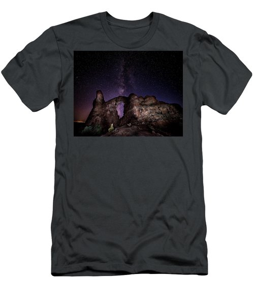 Men's T-Shirt (Athletic Fit) featuring the photograph Milky Way Over Turret Arch by David Morefield