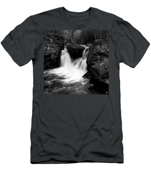 Men's T-Shirt (Athletic Fit) featuring the photograph Mill Falls Monochrome by Wayne King