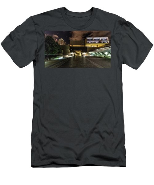 Men's T-Shirt (Athletic Fit) featuring the photograph Milwaukee County War Memorial by Randy Scherkenbach