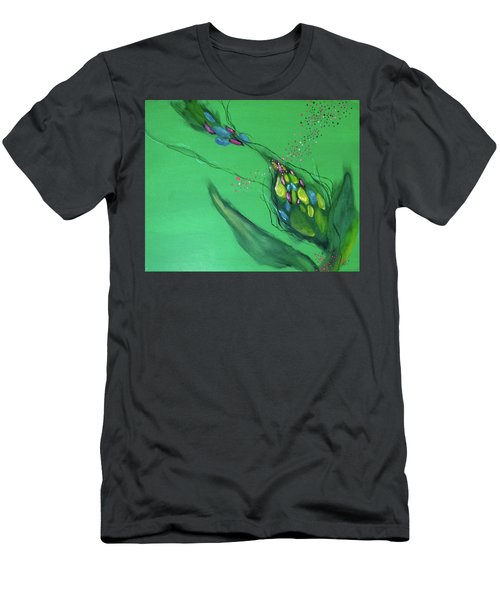Men's T-Shirt (Athletic Fit) featuring the painting Mind #04 by Natsumi Yamaguchi