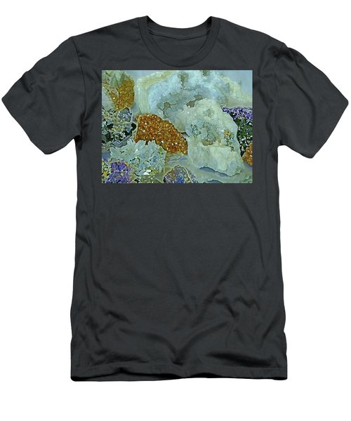 Men's T-Shirt (Athletic Fit) featuring the mixed media Mineral Medley 12 by Lynda Lehmann