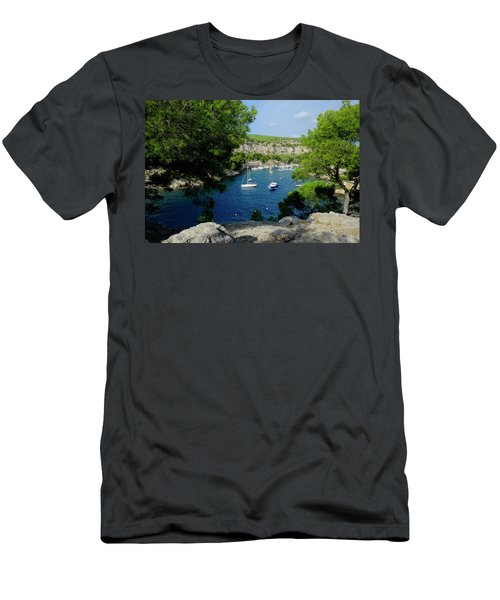 Men's T-Shirt (Athletic Fit) featuring the photograph Miou Marina by August Timmermans