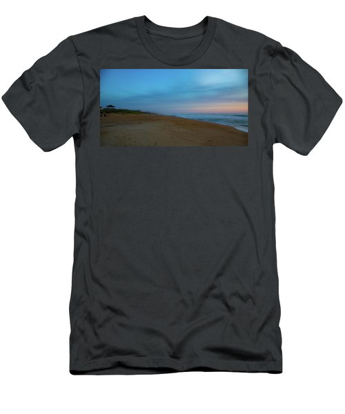 Men's T-Shirt (Athletic Fit) featuring the photograph Misty Morning by Lora J Wilson