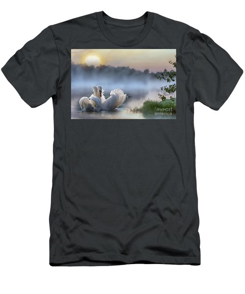 Misty Swan Lake Men's T-Shirt (Athletic Fit)