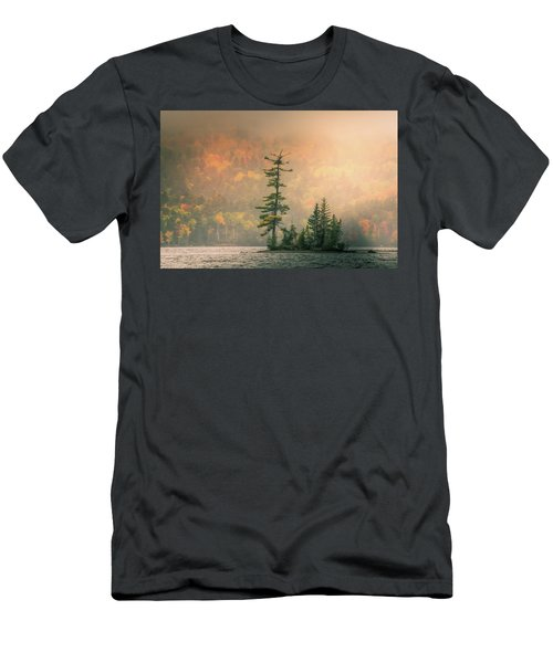 Men's T-Shirt (Athletic Fit) featuring the photograph Moody Autumn Morning On Moosehead Lake by Dan Sproul