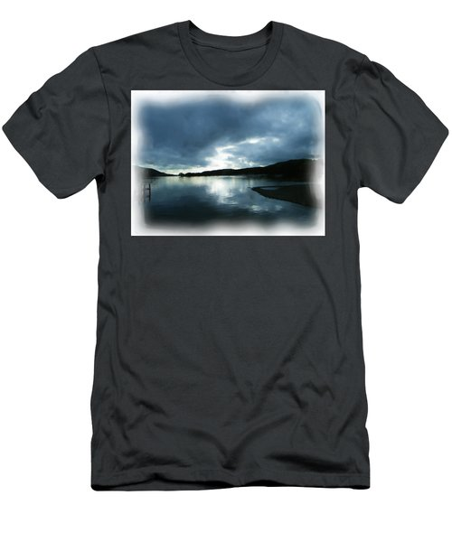 Moody Sky Painting Men's T-Shirt (Athletic Fit)