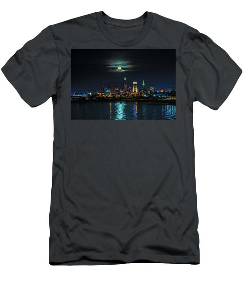 Moon Over Cleveland  Men's T-Shirt (Athletic Fit)