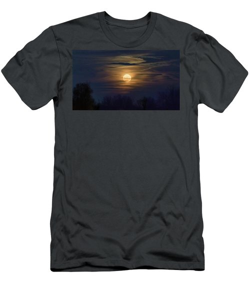Men's T-Shirt (Athletic Fit) featuring the photograph Moonrise by Allin Sorenson
