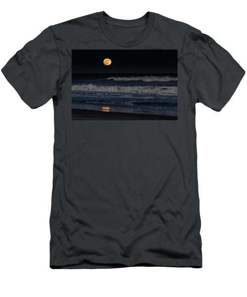 Moonrise Over Assateague Island Beach Men's T-Shirt (Athletic Fit)
