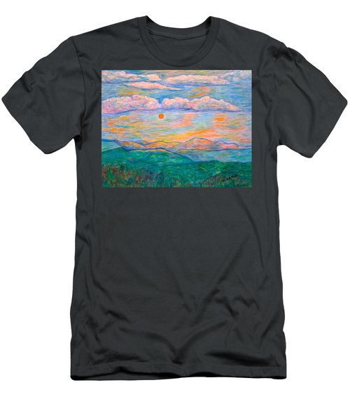 Men's T-Shirt (Athletic Fit) featuring the pastel Morning Color Dance by Kendall Kessler