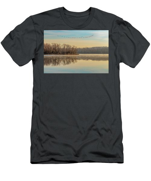 Men's T-Shirt (Athletic Fit) featuring the photograph Morning Flight by Allin Sorenson