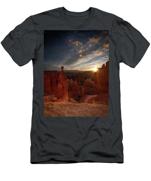 Men's T-Shirt (Athletic Fit) featuring the photograph Morning Kiss by Edgars Erglis