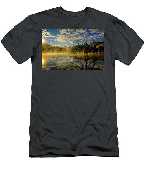 Morning Mist, Wildlife Pond  Men's T-Shirt (Athletic Fit)