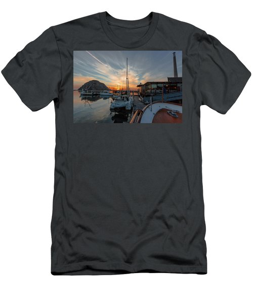 Morro Bay Sunset Men's T-Shirt (Athletic Fit)
