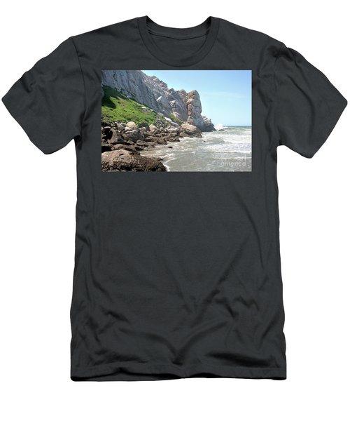 Morro Rock And Ocean Men's T-Shirt (Athletic Fit)