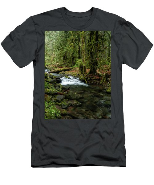 Mossy Cascade Men's T-Shirt (Athletic Fit)