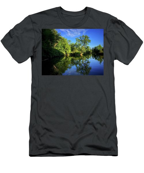 Men's T-Shirt (Athletic Fit) featuring the photograph Mount Vernon Iowa by Dan Miller