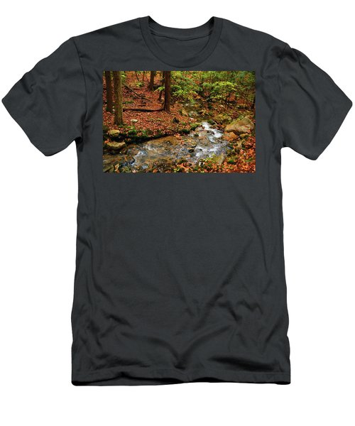 Men's T-Shirt (Athletic Fit) featuring the photograph Mountain Creek In Ma by Raymond Salani III